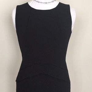 Calvin Klein black sheath peplum dress